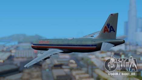 Airbus A320-200 American Airlines (Old Livery) para GTA San Andreas esquerda vista