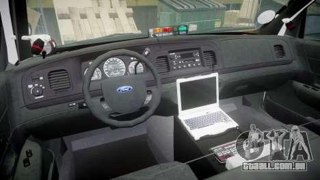 Ford Crown Victoria 2011 LAPD [ELS] rims1 para GTA 4 vista de volta