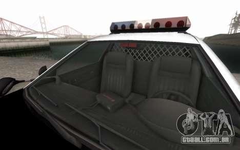GTA 5 Stanier Police para GTA San Andreas vista interior