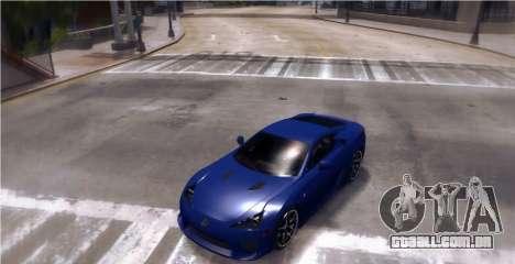 Lexus LF-A 2010 [EPM] para GTA 4 traseira esquerda vista