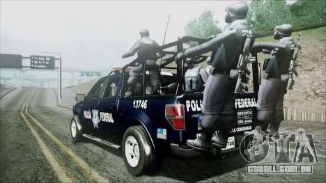 Ford Pickup Policia Federal para GTA San Andreas esquerda vista