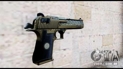 Golden Engraved Desert Eagle para GTA San Andreas segunda tela