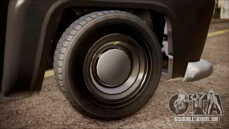 GTA 5 Vapid Slamvan Pickup para GTA San Andreas traseira esquerda vista