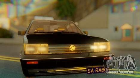 Volkswagen Santana Gz para GTA San Andreas vista traseira