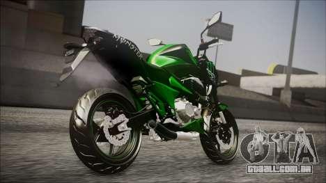 Kawasaki Z800 Monster Energy para GTA San Andreas esquerda vista