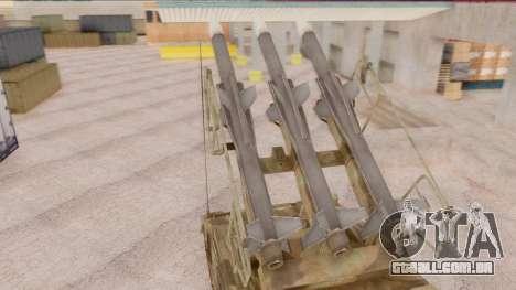2K12 Kub from CoD MW para GTA San Andreas traseira esquerda vista