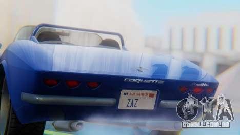 Invetero Coquette BlackFin Convertible para GTA San Andreas vista traseira