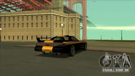 ZR-350 Road King para GTA San Andreas vista inferior