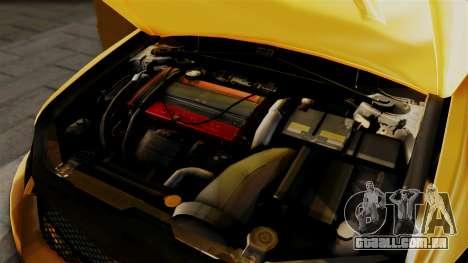 Mitsubishi Lancer Evolution 2015 para GTA San Andreas vista traseira
