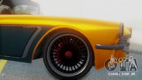Invetero Coquette BlackFin Not Convertible para GTA San Andreas traseira esquerda vista