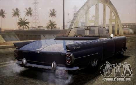GTA 5 Vapid Peyote para GTA San Andreas traseira esquerda vista