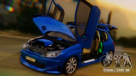Peugeot 206 Full Tuning para vista lateral GTA San Andreas