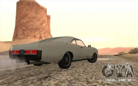 Imponte Dukes SA Style para GTA San Andreas esquerda vista