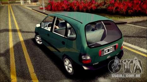Renault Megane Scenic para GTA San Andreas traseira esquerda vista