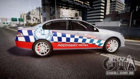 Ford Falcon FG XR6 Turbo Highway Patrol [ELS] para GTA 4 esquerda vista