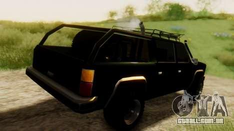 FBI Rancher Offroad para GTA San Andreas traseira esquerda vista
