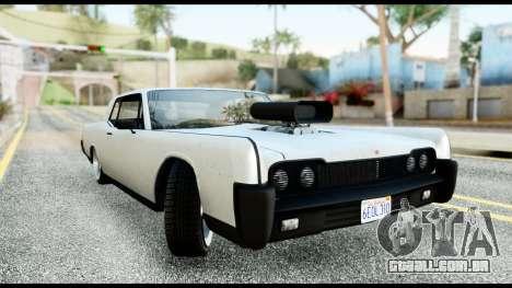 GTA 5 Vapid Chino Tuning v2 para GTA San Andreas traseira esquerda vista