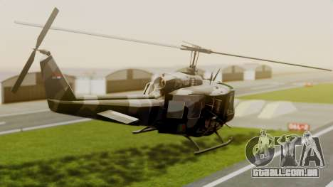 Bell UH-1 Paraguay para GTA San Andreas esquerda vista