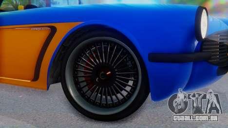 Invetero Coquette BlackFin v2 SA Plate para GTA San Andreas traseira esquerda vista