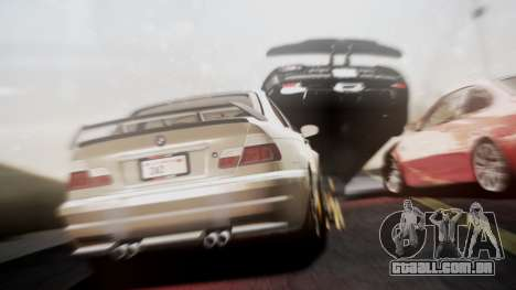BMW M3 GTR Street Edition para GTA San Andreas traseira esquerda vista