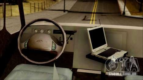 SANG Combat Rescue International para GTA San Andreas vista traseira