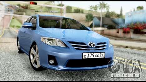 Toyota Corolla 2012 para GTA San Andreas