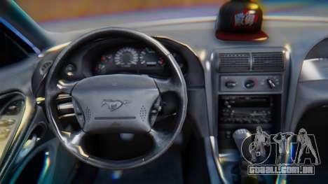 Ford Mustang 1999 Clean para GTA San Andreas vista direita