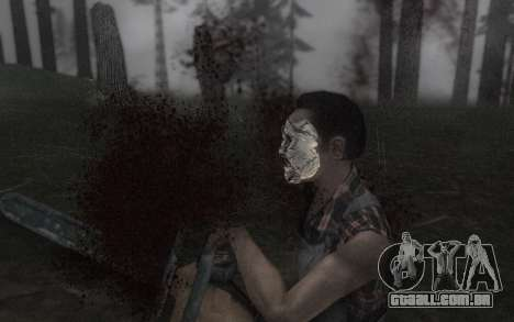 O Couro, máscara de rosto para GTA San Andreas por diante tela
