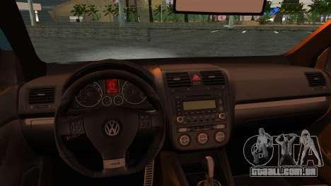 Volkswagen Golf Mk5 para GTA San Andreas vista traseira