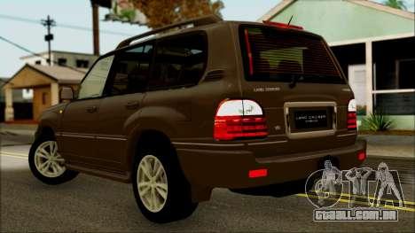 Toyota Land Cruiser Cygnus para GTA San Andreas esquerda vista