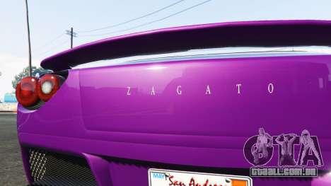 GTA 5 Grotti Carbonizzare Aston Martin Zagato V12 traseira direita vista lateral