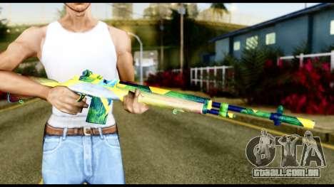 Brasileiro Rifle para GTA San Andreas terceira tela