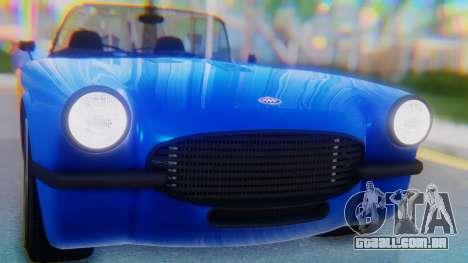 Invetero Coquette BlackFin v2 SA Plate para GTA San Andreas vista traseira