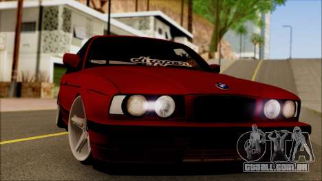 BMW M5 Touring E34 para GTA San Andreas traseira esquerda vista