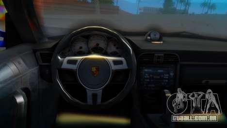 Porsche 911 2010 Cabrio para GTA San Andreas vista direita