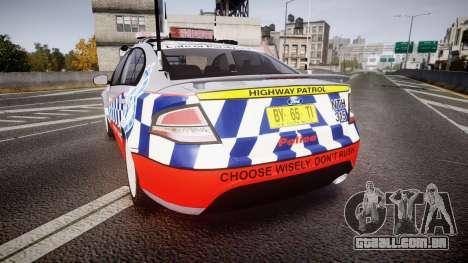 Ford Falcon FG XR6 Turbo Highway Patrol [ELS] para GTA 4 traseira esquerda vista