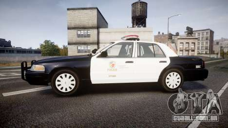Ford Crown Victoria 2011 LAPD [ELS] rims1 para GTA 4 esquerda vista