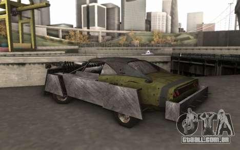 Dodge Charger Infernal Bulldozer para GTA San Andreas traseira esquerda vista