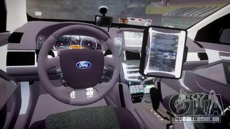 Ford Falcon FG XR6 Turbo Highway Patrol [ELS] para GTA 4 vista de volta