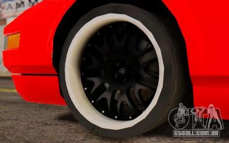 Infernus Hamann Edition New Wheels para GTA San Andreas traseira esquerda vista