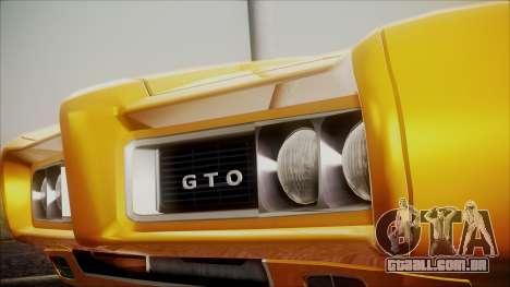 Pontiac GTO 1968 para GTA San Andreas vista direita