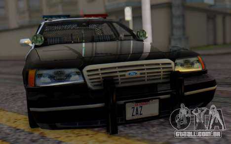 Ford Crown Victoria LSPD para GTA San Andreas vista traseira