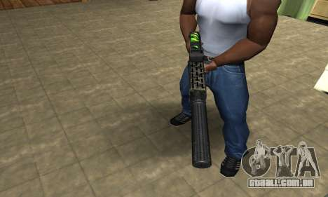 SPAS-12 Green Lines para GTA San Andreas segunda tela