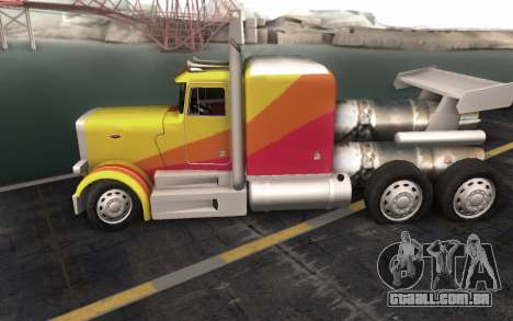 ShockWave Jet Truck para GTA San Andreas vista traseira