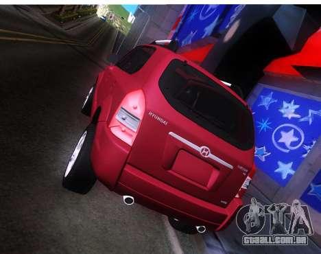 Hyundai Tucson para GTA San Andreas vista direita