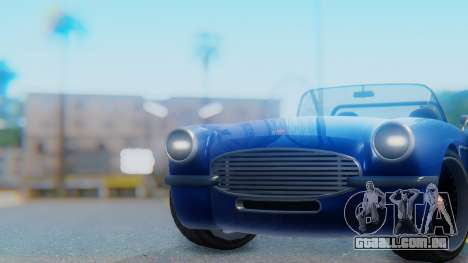Invetero Coquette BlackFin Convertible para GTA San Andreas vista direita