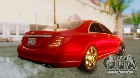 Mercedes-Benz S63 W222 AMG para GTA San Andreas esquerda vista
