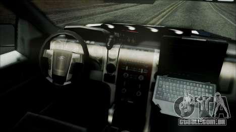 Ford Pickup Policia Federal para GTA San Andreas vista direita