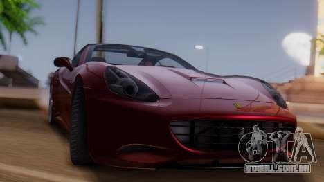 Ferrari California v2.0 para GTA San Andreas traseira esquerda vista