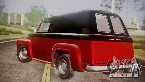 GTA 5 Vapid Slamvan IVF para GTA San Andreas esquerda vista